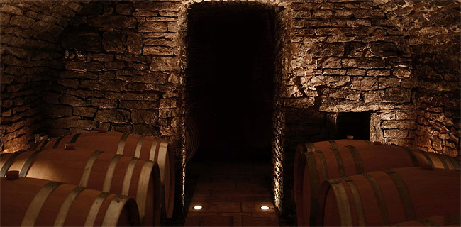 Cellar at Domaine Bruno Colin