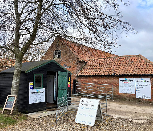 Martins Farm shop - Hindolveston